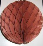 Darázsfészkes gömb, papír 30 cm barna