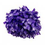 Plasztik pompom versenyzőknek lila színben, középfogós