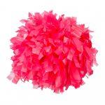 Plasztik pompom versenyzőknek hot pink színben, középfogós