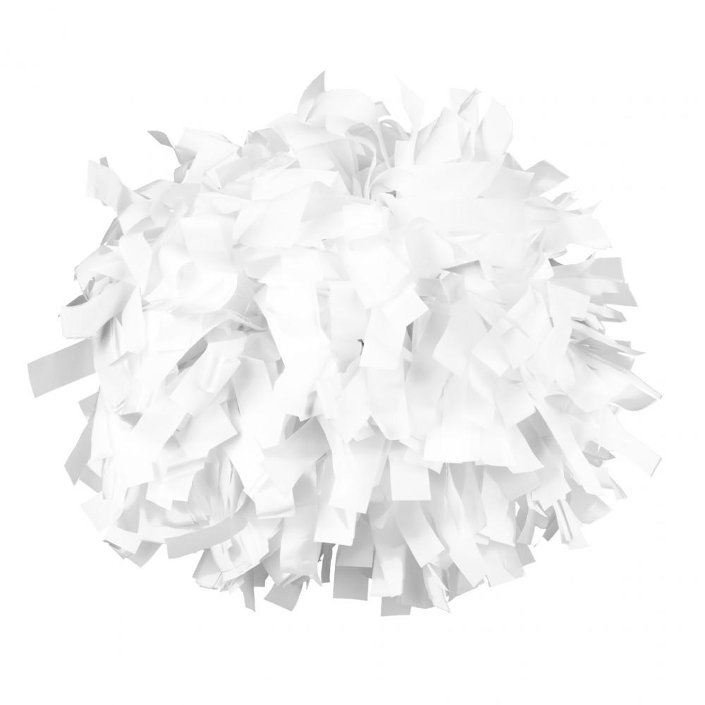 Plasztik pompom versenyzőknek fehér színben, középfogós