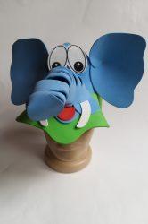 Állatfigurás kalap elefánt