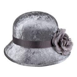 Charleston szürke, női kalap