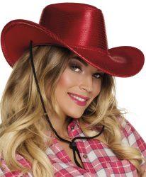 Rodeo kalap, piros