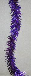 Vékony karácsonyi boa világos lila színben