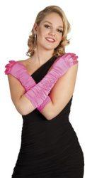 Szatén Party kesztyű - Hollywood pink