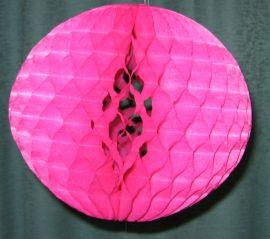 Darázsfészkes gömb, papír 30 cm ciklámen
