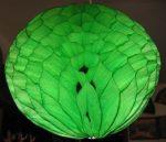 Darázsfészkes gömb, papír 30 cm zöld