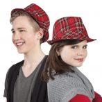 Skót kockás kalap