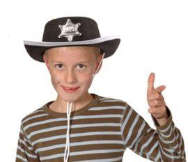 Gyerek sheriff kalap csillaggal, filc