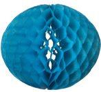 Darázsfészkes gömb, papír 40 cm kék