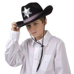 Gyerek ( junior) sheriff  filc kalap, csillaggal