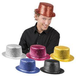 cilinder, csillámos, 6 színben