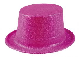 cilinder, csillámos, neon pink