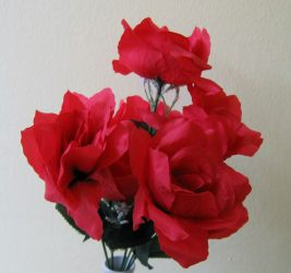 Rózsacsokor piros