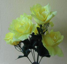 Rózsacsokor 7 virággal sárga