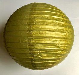 Lampion rizspapírból, 30 cm arany