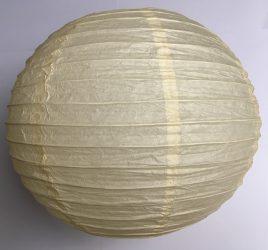 Lampion rizspapírból, 30 cm bézs