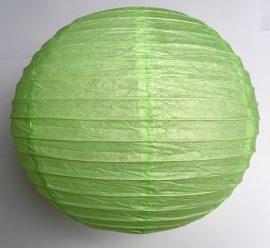 Lampion rizspapírból, 30 cm Halvány zöld