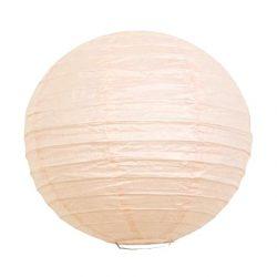 Lampion rizspapírból, 30 cm halvány barack