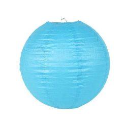 Lampion rizspapírból, 30 cm kék