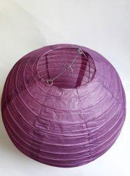 Lampion rizspapírból, 30 cm  lila