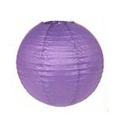 Lampion rizspapírból, 30 cm lila*