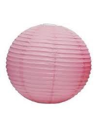 Lampion rizspapírból, 30 cm rózsaszín