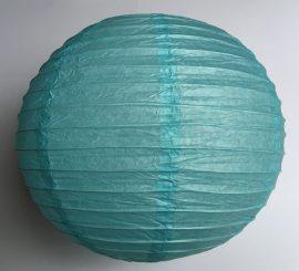 Lampion rizspapírból, 30 cm Világos kék