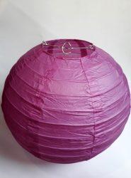 Lampion rizspapírból, 30 cm világos lila