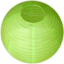 Lampion rizspapírból, 30 cm világos zöld