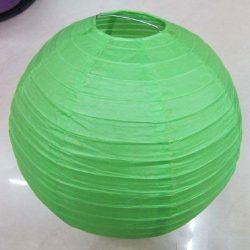 Lampion rizspapírból, 30 cm zöld