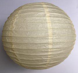 Lampion rizspapírból, 40 cm Bézs