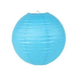 Lampion rizspapírból, 40 cm kék