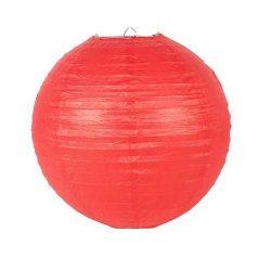 Lampion rizspapírból, 40 cm piros