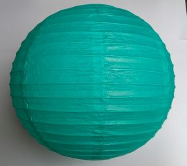 Lampion rizspapírból, 40 cm Türkiz