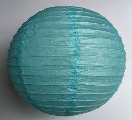Lampion rizspapírból, 40 cm Világos kék