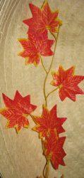 Őszi girland  narancs 190 cm