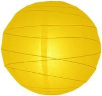 Lampion rizspapírból, 60 cm sárga szabálytalan abronccsal
