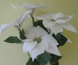 Mikulásvirág-csokor fehér