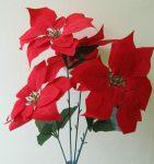 Mikulásvirág-csokor piros
