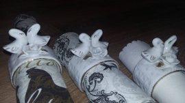Szalvétagyûrû, porcelán,  hattyús