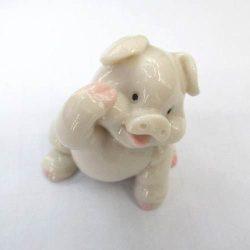 Szerencse malac (porcelán), 5 cm