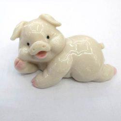 Szerencse malac (porcelán), 7 cm