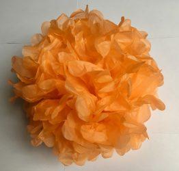 Pom-pom dekoráció, papír 34 cm narancs