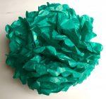 Pom-pom dekoráció, papír 34 cm sötét menta