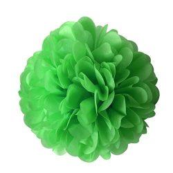 Pom-pom dekoráció, papír 34 cm fűzöld