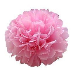 Pom-pom dekoráció, papír 34 cm rózsaszín