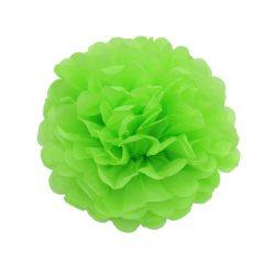 Pom-pom dekoráció, papír 34 cm uv zöld