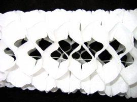 Tömött, sűrű papír girland 3 m-es 4 színben