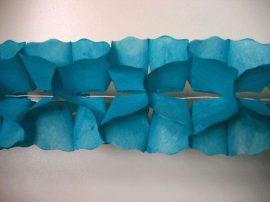 Tömött, sűrű, papír  girland ( 6m ) 6 színben
